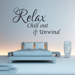 $enCountryForm.capitalKeyWord Australia - Relax Chill Out And Unwind Wall Quote Sticker Bedroom Lounge Bathroom Gym Home Decor Interior Design Murals
