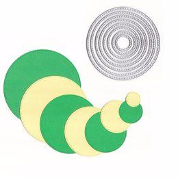 Card die punCh online shopping - Christmas Metal Cutting Dies Round Basic Dotted Line Frame Scrapbooking Papercraft Card Album Punch Stencil Art Cutter Die Cut
