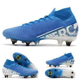 vapor cleats Australia - 2020 mens soccer cleats Mercurial Superfly 7 Elite SG-PRO AC soccer shoes cheap CR7 Mercurial Vapors 13 Elite SG-PRO football boots
