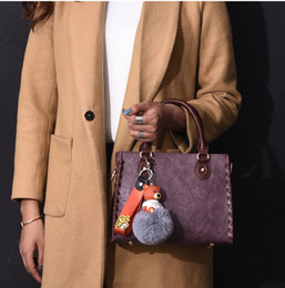 Discount simple easter decorations - 2019 new women's bag handbag fashion Korean version of the shoulder slung ladies wild simple style solid color bear