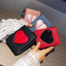 Wallet Bag Girl Hand Australia - 2019 Ffashion New Women Bag High Quality Soft Lleather Wallet Big Heart Wallet Mini Card Bag Hand Bag Sweet Girl Portable Clutch