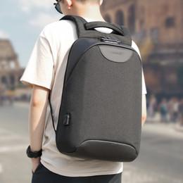 Media Keys Australia - No Key Anti theft TSA Lock Fashion Men Backpacks 15.6inch USB Charging Laptop Male Mochila College School Backpack for Boys