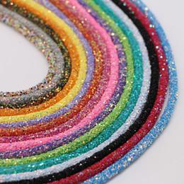 $enCountryForm.capitalKeyWord Australia - 1Yard Jewelry Making Findings 5mm Sequin Cord Round Rubber Glitter Tube for DIY Sandals Bracelet Garment Collar Accessory Craft