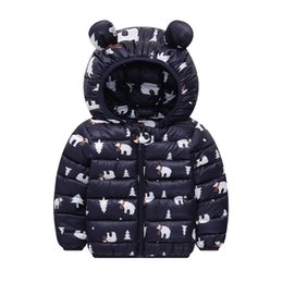 Spring ear online shopping - Winter Baby Girls Boys Coats Jacket Thick Ears Hooded Newborn Jacket Outwear Casual Infant Children Girl Boy Clothes Coats