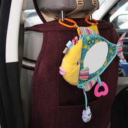 Clear View Car Australia - New Car Seat Mirror Back Mirror for Baby Shatterproof Rear Facing Infant Car Fish Shaped Clear View