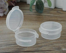 Cream jars 5g online shopping - 5g plastic container jar for e cig wax oil dry herb cosmetic cream packing new arrivals button box mini Q box