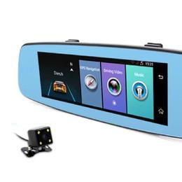 Rearview Screen NZ - 1PC Car Dual Lens GPS FHD 1080P car DVd Rearview Camera Black