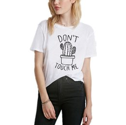 Plus Size Harajuku Clothing NZ - Plus Size Summer Women's T-shirts letter Kawaii japonais Tee Shirt Korean Clothes 2019 white cactus tshirt Harajuku Haut Femme