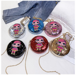 $enCountryForm.capitalKeyWord Australia - 201908 Cute Doll Glitter Crossbody Bags Sequins Coin Purse Round Bag with Zipper Small Wallets for Women Girls Kids Gift 22 Styles M121F