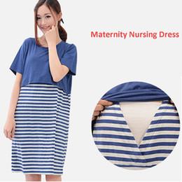 e3b75d0a6b3e Pregnancy Dress Women Nursing Clothes Striped Vestidos Casual Breastfeeding Maternity  Dresses for Pregnant Women Clothing