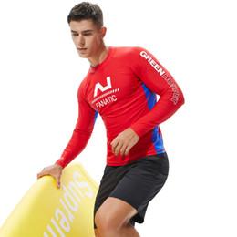 d6c6f38ee8f9 Wetsuits Rashguard Long Sleeve Surf Skin Shirts Pro Swim Tights Sun  Protection UPF 50+ Swimwears Windsurfing Top Diving