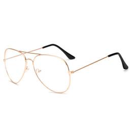 1d81053d21 2019 Unisex Clear Metal Spectacle Frame Optics Myopia Eyeglasses Classic  Brand Glasses Men Women Clear Plain Lens Glasses