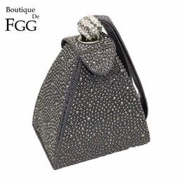$enCountryForm.capitalKeyWord NZ - Vintage Diamond Bridal Wedding Purse Mini Gray Pyramid Party Handbags Women Bag Wristlets Clutches Crystal Evening Clutch BagsMX190823