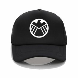 3d5c4f8cc598d Latest model Marvel Agents of S.H.I.E.L.D. Shield Printing net cap Fashion Baseball  cap Men women Summer Cap Beach Visor hat