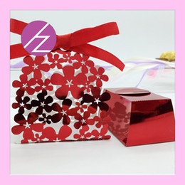 Pearl flower favor box online shopping - Cutout Garden Flower Favor Holders Wedding Festival Birthday Party Greeting Blessing Grand Events Boxes Party Supplies