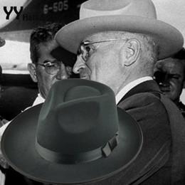 Women Floppy Hat Australia - Retro Fashion Vintage Floppy Wide Brim Felt Hat For Men Women Black Wool Fedoras Hat Trilby Cap chapeu de feltro YY0347 D19011102