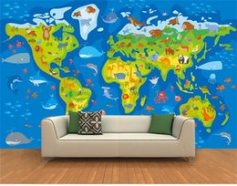 Wood Kids Kitchen Australia - custom size 3d photo wallpaper livingroom bed room mural cartoon kids animal world tour picture sofa TV backdrop wallpaper non-woven sticker