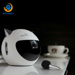 Chinese  Creative LED Alarm Clock Digital Bluetooth Speaker Snooze Table Clock Cute Devil Radio Microphone Music Player Electronic manufacturers