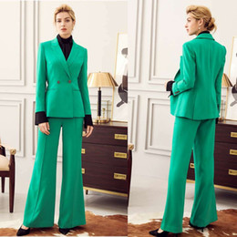 celebrity red tuxedo UK - Plus Size Mother of the Bride Suits Green Celebrity Evening Dresses Formal Outfit For Weddings Tuxedos Blazer (Jacket+Pants)
