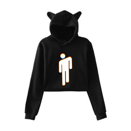 Großhandel FADUN 2018 Billie Eilish modetrend sala Katze Crop Top Frauen sommer Hoodies Sweatshirt Sexy hot Kpop Harajuku plus Größe
