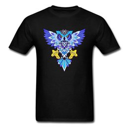 White T Shirt Print Owl Australia - Mr. Owl Tops Men TShirt Male T Shirts Printed Tee-Shirt Graphic O-Neck Casual Black Clothes 100% Cotton Fabric Free Shipping