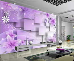 $enCountryForm.capitalKeyWord Australia - Custom any size photo 3d murals wallpaper for living room Purple warm flower TV background wall
