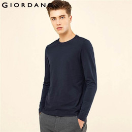 Wholesale men t shirt rib for sale - Group buy Casual Men T Shirt Solid Ribbed Crewneck Tshirts Long Sleeves Brushed Cotton Warm Fitting Tee Winter Casual Clothing Trend