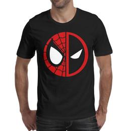 740dbfa58 Deadpool-Spiderman-logo-Marvel-comics- Men T Shirt black Shirts Custom T  Shirts Funny T Shirts Crazy Cheap Shirt Black