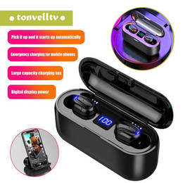 bluetooth hd headphones wireless Australia - Wireless Bluetooth Earbuds LED Display TWS HBQ-Q32-1 HD Handsfree Headphone Sports Earphone Power Bank Gaming Headset With Mic Charging Case