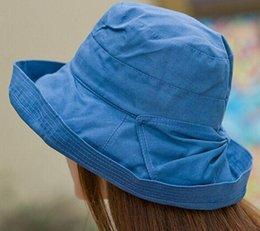 00953b45329 Korean cotton sun hat Anti UV Crimping fisherman basin cap stylish summer  hats chapeau femme Free Shipping