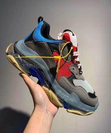 $enCountryForm.capitalKeyWord Australia - outlePersonality Paris Crystal Bottom Triple-S Casual Shoes Luxury Dad Shoe Platform Triple S Sneakers for Men Women Lace Up Dust Bag Tennis