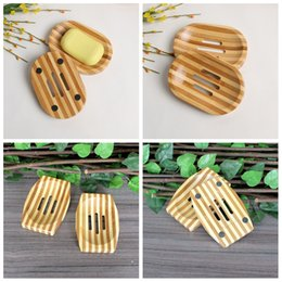 $enCountryForm.capitalKeyWord Australia - Soap Dish Bamboo Wooden Soap Tray Holder Storage Soap Natural Rack Plate Box Wooden Container for Bath Shower Bathroom tool FFA2672