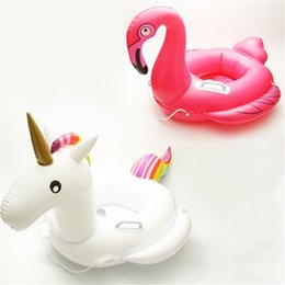 China Child Unicorn Swimming Ring Flamingo Life Buoy Thicken Inflatable Sitting Circle Solid Color Eco Friendly Factory Direct Sales 25 5gz C1 cheap sit inflatables suppliers
