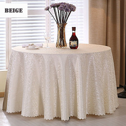 $enCountryForm.capitalKeyWord Australia - 1pc Multi Size White Polyester Hotel Dinner Table Cloth Round Washable Gold Crocheted Floral Tablecloth For Wedding Party Decor T8190620