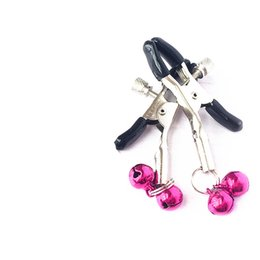 bdsm torture clamps nipple Australia - erotic nipple clips tit clamps labia kinky play with tiny two bells bdsm torture bondage gear sex toys for couples BX1123