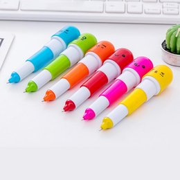 $enCountryForm.capitalKeyWord Australia - 6pcs set Cute Kawaii Creative Pills Ball Ballpoint Pens Ballpen For School Writing Supplies Stationery Kids Gift