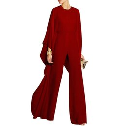$enCountryForm.capitalKeyWord Australia - Women Early Autumn Solid Color Jumpsuit & Romper New Fashion Ladies Long Sleeve Jumspuit Playsuit Clubwear Chiffon Long Trousers