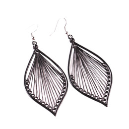 Wholesale New Fashion Women Alloy Leaf Stud Earings Eardrop Jewelry Beautiful Accessories High Quality Gift For Friend z0315