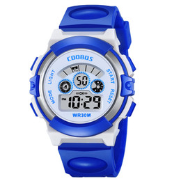 kids digital sports watch Australia - Teen Girls Watches Kids Colorful Flash Lights Waterproof Digital Watch LED Baby Silicone Wrist Watch For Boys Sport Woman Clock