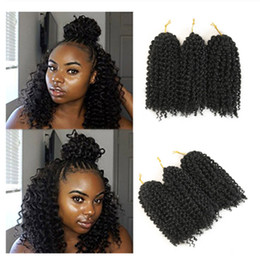 brazilian twist hair UK - Mali Bob Twist Hair Crochet braids Synthetic Ombre Braiding Hair Extensions Brazilian Jerry Curly Bundles Kinky Curly Hair Bulk