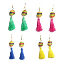$enCountryForm.capitalKeyWord NZ - SexeMara Small Tassel Earrings for Women Fashion Jewelry Bohemian Wool Ball Statement Fringed Tiny Drop Earring Female Jewellery