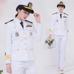 Wholesale global clothes online – design International Navy Woman uniform luxury yacht Captain Clothing Global US Europe Navy dinner party Garment performance suits Madam