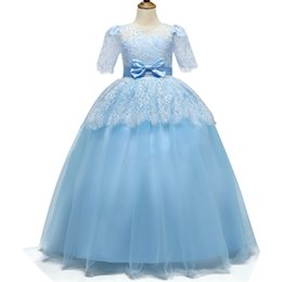 wedding dress for years kids Australia - Teens Girls Princess Dress Children Evening Party Dress Flower Girls Wedding Gown Kids Dresses For Costume 8 10 12 14 Year