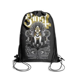 string bow tie NZ - Drawstring Sports Backpack Banda Ghost Logo outdoor durable limited edition Pull String Backpack