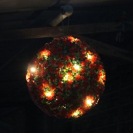 Solar Energy Saving Bulbs NZ - 20 LEDs Solar Light Flower Ball Hanging Garden Ornament Energy Saving Lamp