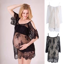 maternity props Australia - Lace See Through Maternity Dresses Sleepwear Studio Clothes Pregnancy Photo Prop M29 dropshipping