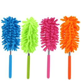 Fans book online shopping - 4 Color Adjustable Scalable Duster Clean Brush Desktop Cleaning Telescopic Dusters Chenille Household Cars Cleaning Tools