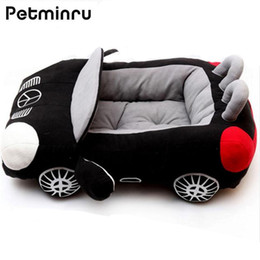 small dog house kennels Australia - Petminru Car Shaped Pet Bed Dog House Cool Sports Small Dog Cat House Warm Soft Puppy Sofas Mats Kennel SH190926