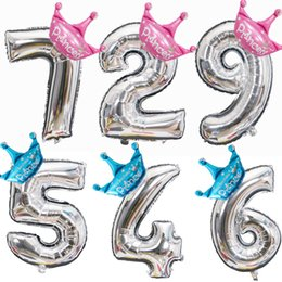 $enCountryForm.capitalKeyWord Australia - Foil Balloons Crown 32 40 Inch Figure 1 2 3 4 5 6 7 8 9 Years Old Kid Boys Girls Happy Birthday Balloon Baby Shower Decoration