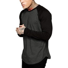 Sleeve Men Baseball Longo T-shirt do grupo Moda da equipe de esportes Jersey Raglan T Cotton Tees For Men